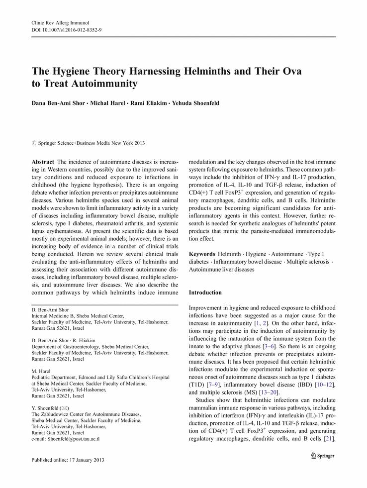 helminthic therapy ankylosing spondylitis cancer de pancreas neuroendocrino