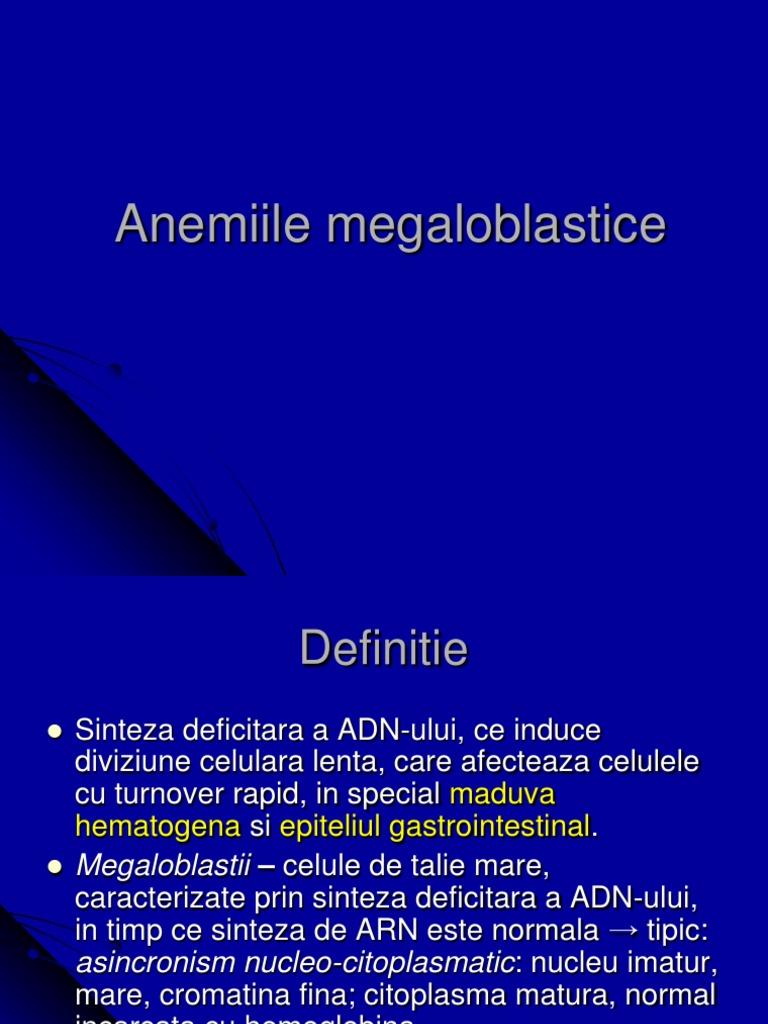 anemie megaloblastica tratament papillomavirus origine mot