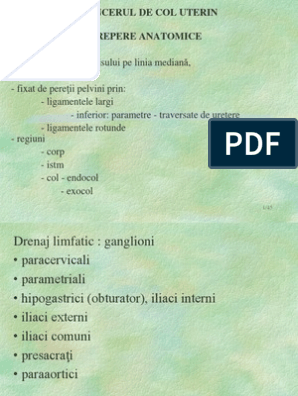 ganglioni cancer uterin