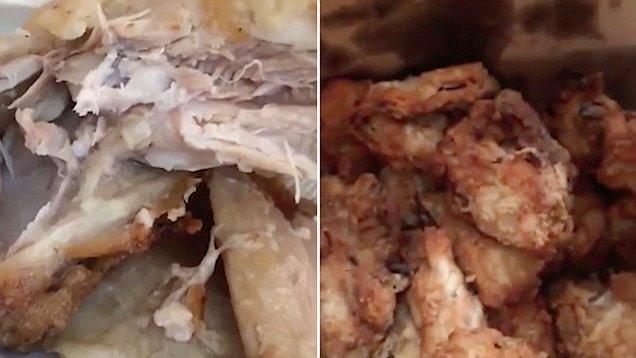 Atenţie: mâncare cu viermi la un lanţ popular de restaurante fast-food (VIDEO)
