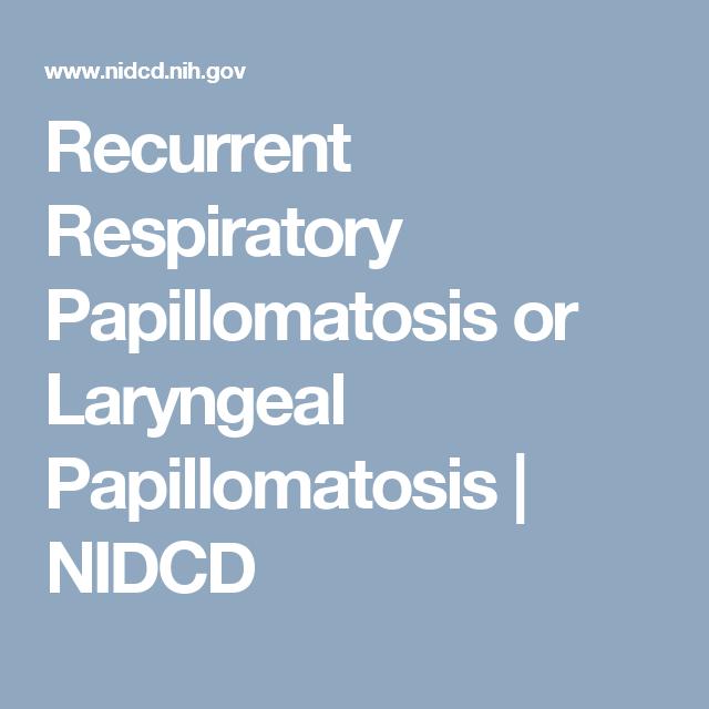 recurrent laryngeal papillomatosis ppt papilloma skin tag icd 10