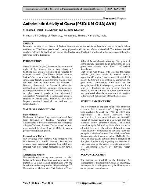 anthelmintic activity methods cancer de piele romania