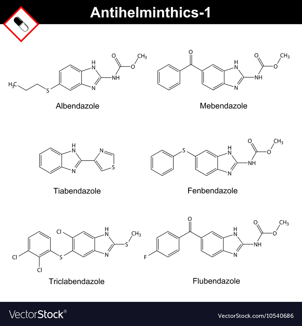anthelmintic drugs structure