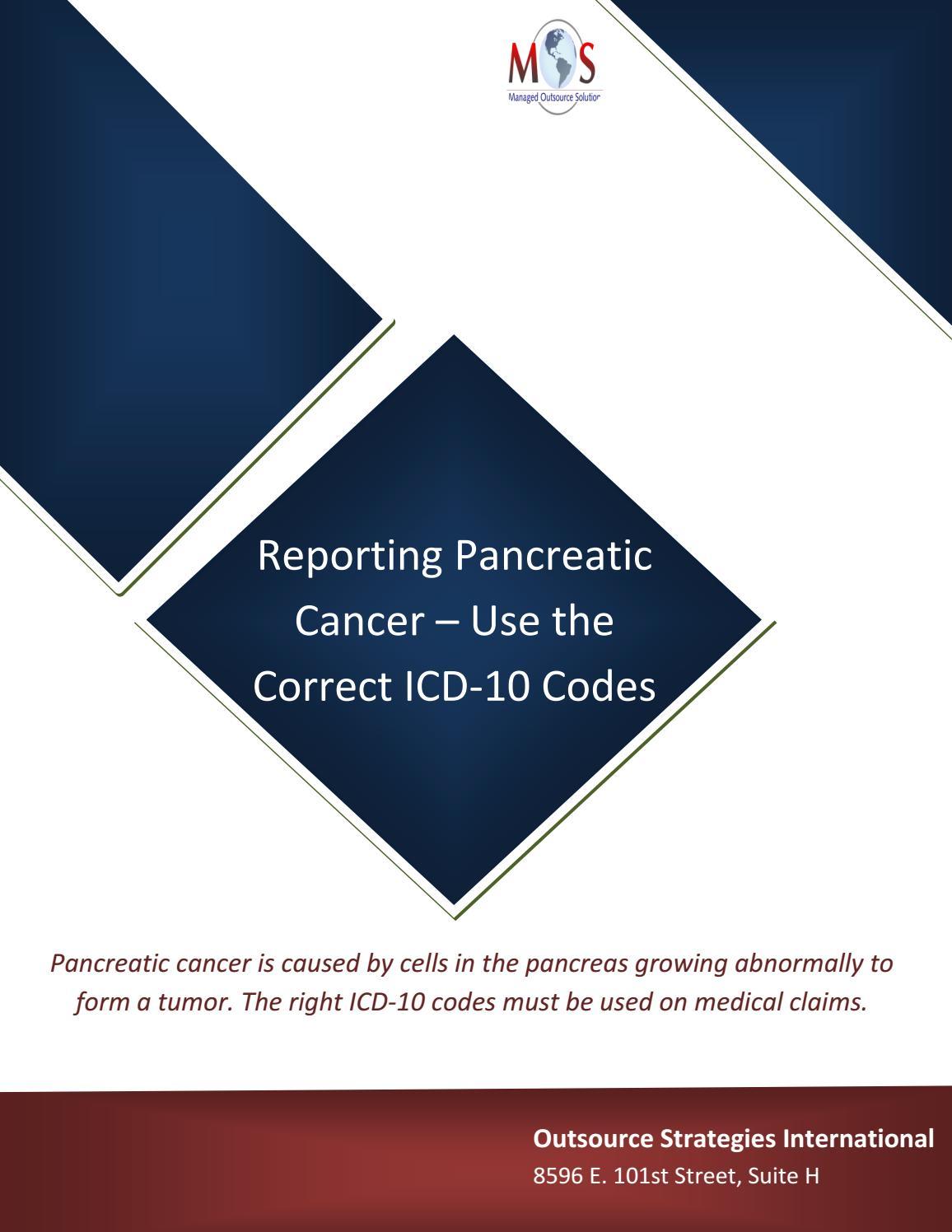 cancer pancreatic icd 10