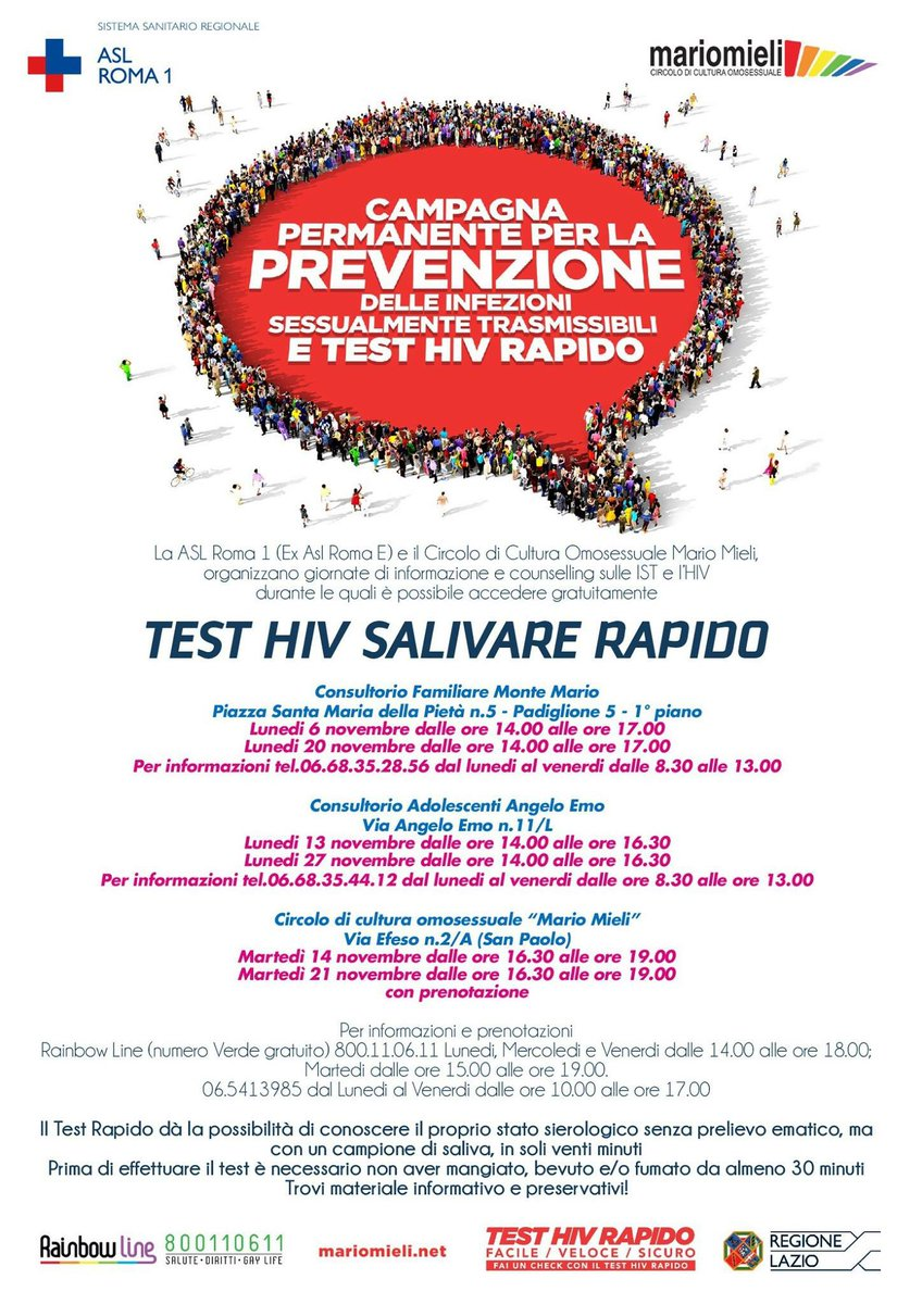test hiv anonimo roma