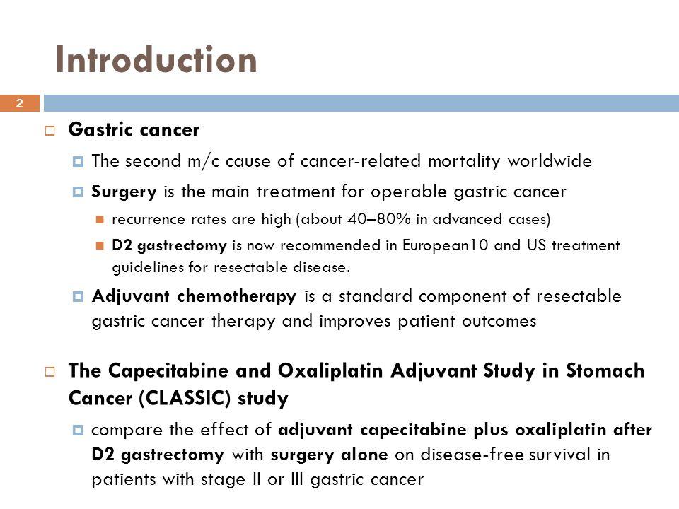 gastric cancer adjuvant chemotherapy
