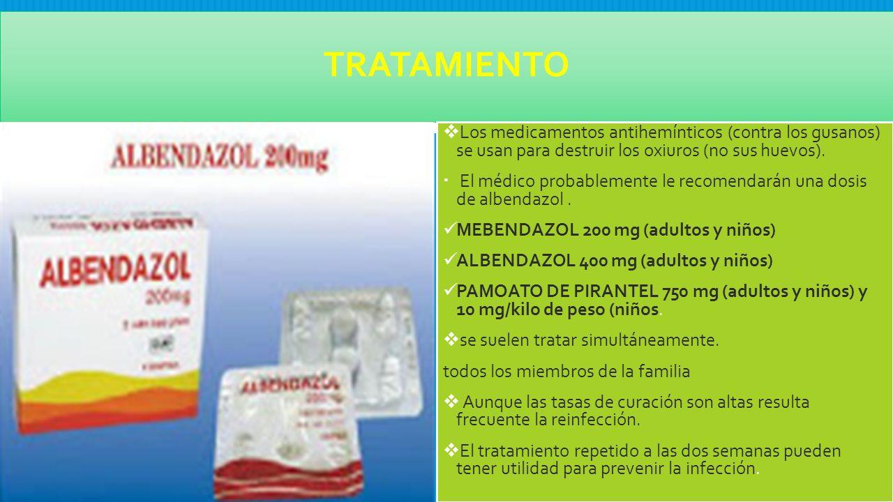 medicamentos contra oxiuros