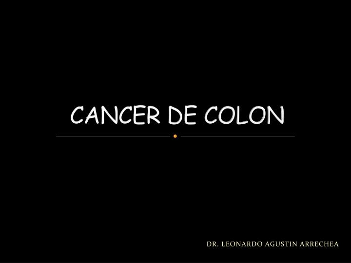 powerpoint cancer de colon