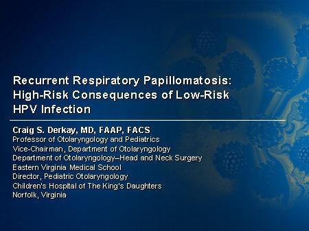 recurrent respiratory papillomatosis pathology