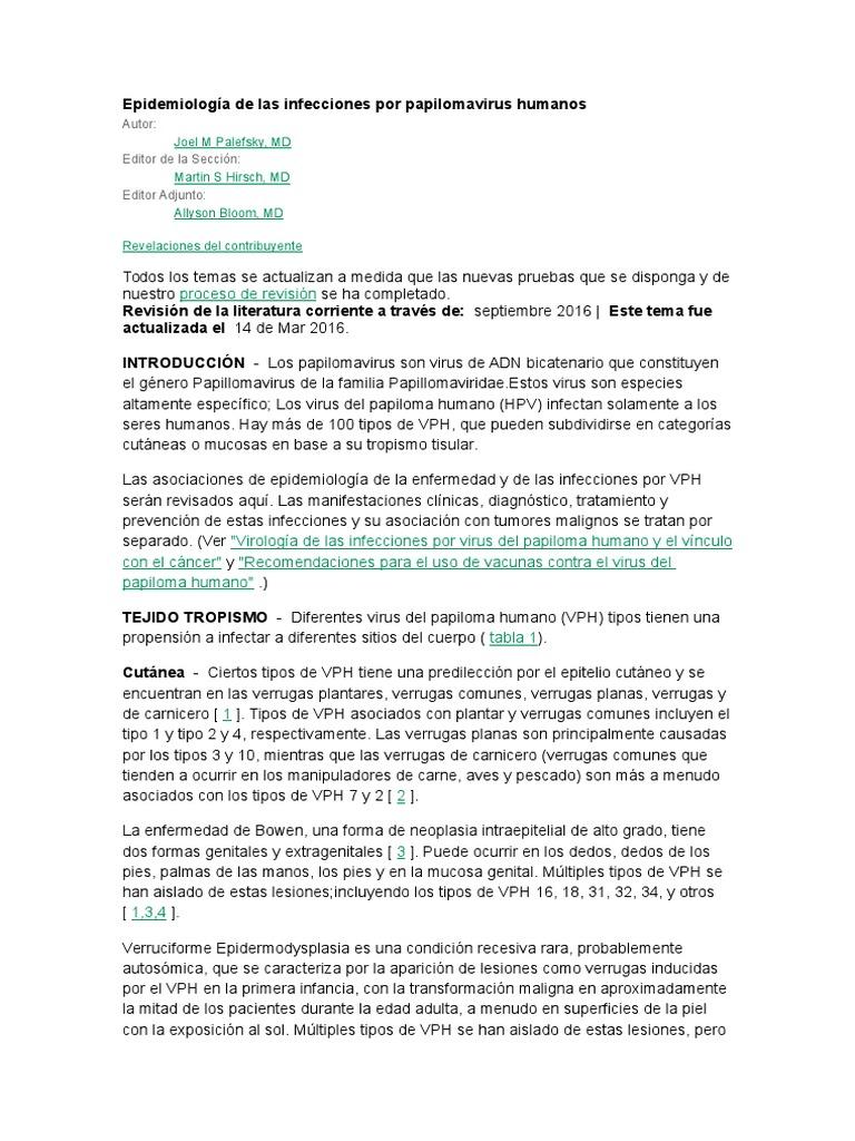 virus del papiloma humano revision de la literatura medicamente pentru paraziti intestinali copii