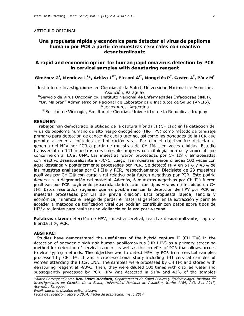 virus papiloma humano por pcr