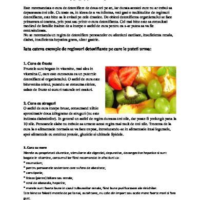 cura detoxifiere cu apa papilom definitie