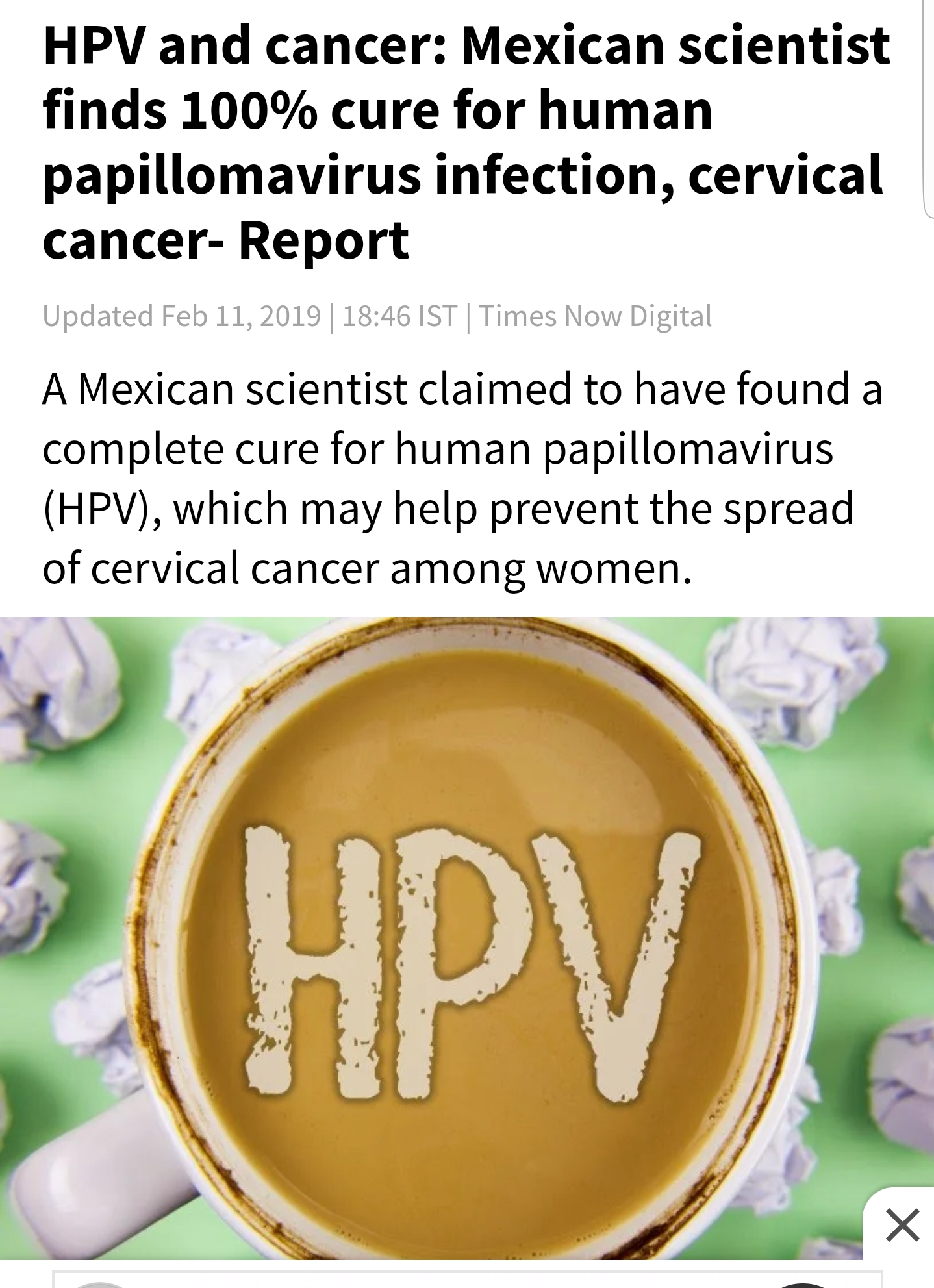 can hpv cancer be cured