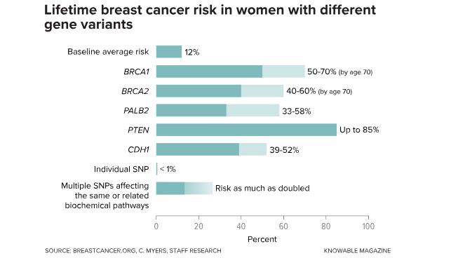 cancer genetic percentage