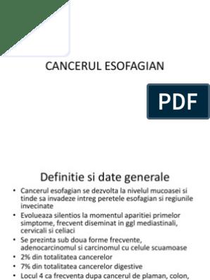 cancerul esofagian definitie