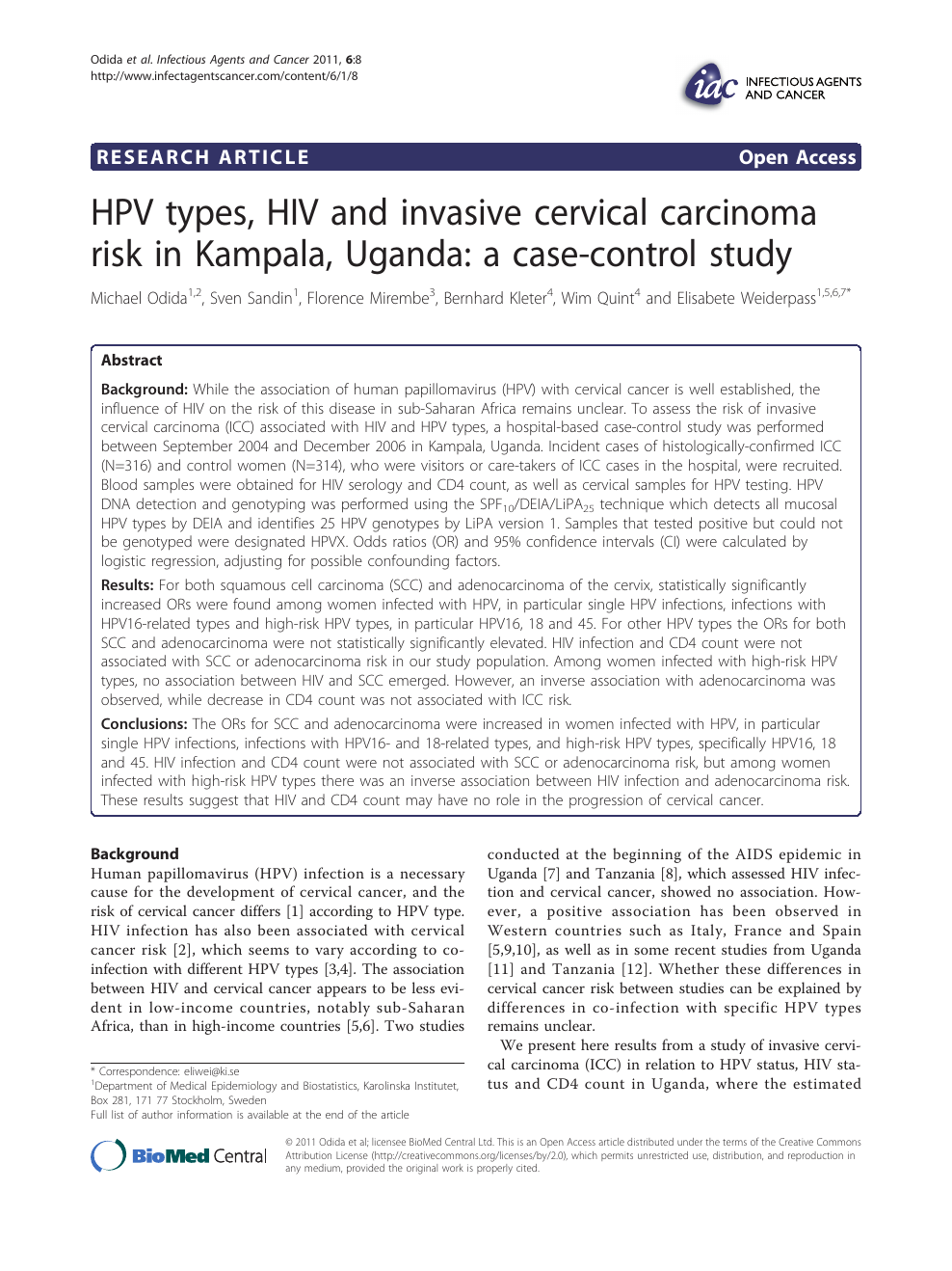 hpv and cofactors for invasive cervical cancer in morocco a multicentre case-control study do warts on tongue hurt