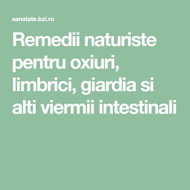 Oxiurii - paraziti intestinali