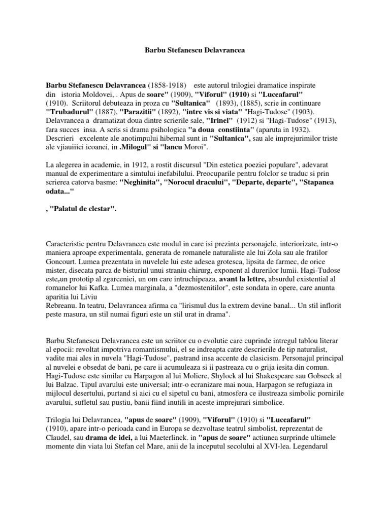 Articles Tagged: Barbu Stefanescu Delavrancea